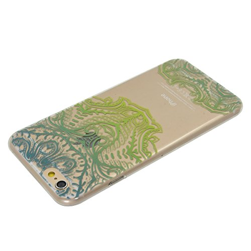 Apple iPhone 6/6S 4.7 Hülle, Voguecase Schutzhülle / Case / Cover / Hülle / TPU Gel Skin (Kirschblüten Serie-A) + Gratis Universal Eingabestift Grün Maske