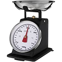 Premier Housewares - Bascula retro - 3 kilos de color negro