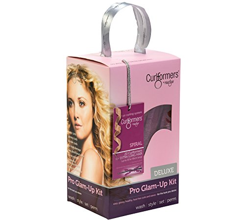 Curlformers Deluxe Range Glam up Kit Spiral Curls for Extra Long Hair