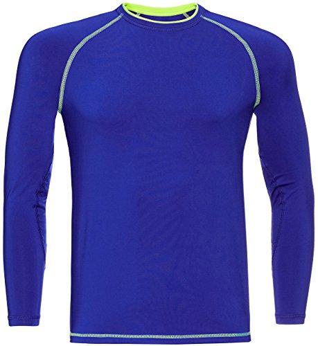 FIND Sporttop Herren Enge Passform und Verstärkte Nähten Blau (Cobalt Blue)