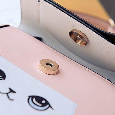 SUNNY KEY-Borsa a tracolla @ Donna Sacchetto del telefono mobile PU (Poliuretano) Per tutte le stagioni Casual Altro Con fermaglio Blu Nero Rosa , black blushing pink