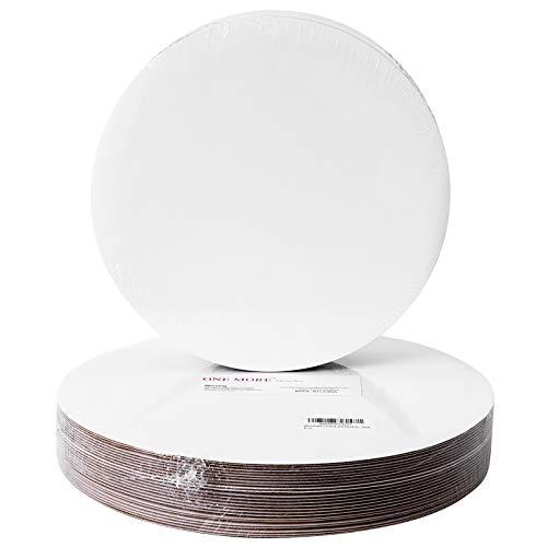 Kuchenplatte, rund, Einwegplatte, Weiß, 25 Stück, 12inch, weiß