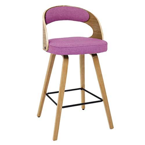 HYYK Barhocker Fußhocker Stuhl Hochhocker Esszimmerstuhl als Küche  Bar  Frühstückshocker  Holzsitz mit Rückenlehne  Maximale Belastung 330lbs -