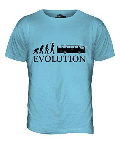 CandyMix Reisebus Evolution Des Menschen Herren T Shirt Himmelblau