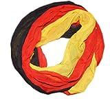 Fanschal (crinkel), Schlauchschal / Fan-Schal Fußball Deutschland-Farben Halstuch, Rundschal, Viskose, schwarz-rot-gelb