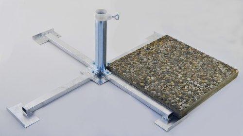 Nexos trading pied de parasol en 4 mm de diamètre en acier pour pLATTENSTÄNDER allemand 40/40 50/50 ou béton-jusqu'à 55 mm de diamètre mât de parasol galvanisé pLATTENSTÄNDER-feu-bODENKREUZ pLATTENSTÄNDER à 55 mm-ø sTABIELO en métal pour gROSSSCHIRME, pour ranger des plaques de béton-support de parasol-holly produits sTABIELO ®-innovation fabriqué en allemagne-holly-sunshade ® prix des stocks plus longtemps-livré sans panneaux produit fabriqué dans le bade ®-wurtemberg