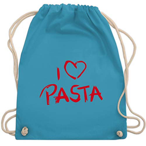 I love - I Love Pasta - Unisize - Hellblau - WM110 - Turnbeutel & Gym Bag