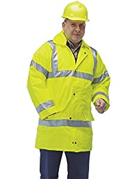 Grafters HI-VIZ Fluorescent Reflective Waterproof Jacket Yellow