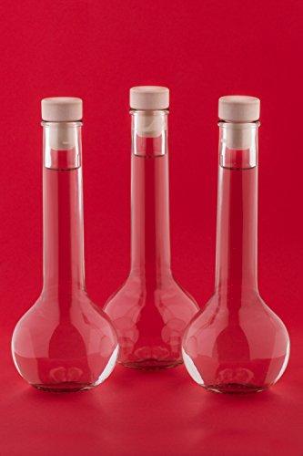 10 Leere Glasflaschen 200 ml TUL-HGK zum selbst Abfüllen Flasche 0,2 Liter l Likörflaschen Schnapsflaschen Essigflaschen Ölflaschen Saftflasche Weinflasche von slkfactory