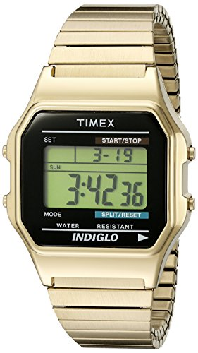 timex-classic-unisex-t78677-quartz-watch-with-lcd-dial-digital-display-and-gold-stainless-steel-brac
