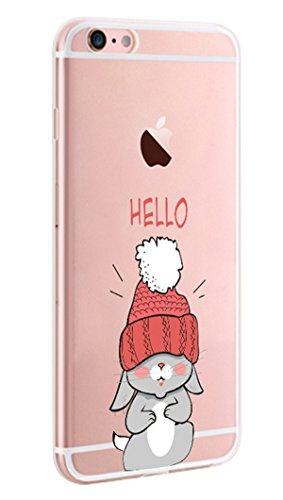 Coque iPhone 7 (4.7 pouces) Pacyer® Silicone Case TPU Coque Transparente Case pour Apple iPhone 7 UltraSlim Premium Soft Skin de Protection Pare-Chocs Anti-Choc Bumper piano manchot 16
