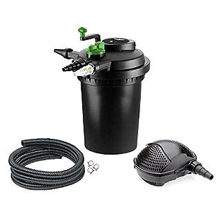 Aqua-Tech Teichfilter Druckfilter 10000 UV Pumpe PondoMax 5000