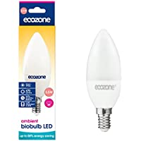 Ecozone LED Bio Bulb, Energy Saving, Screw Cap E14 Fitting, Warm White, 5.5W Equivalent to 40W, 470 Lumens, 2700K Ambient, Up To 88% Energy Saving, Up To 25,000 Hours Lifetime, Energy Class A+