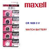 5 Pieces of Maxell CR1620 Lithium Button Coin Cell Battery 3V Imported CR 1620 Fresh Stock