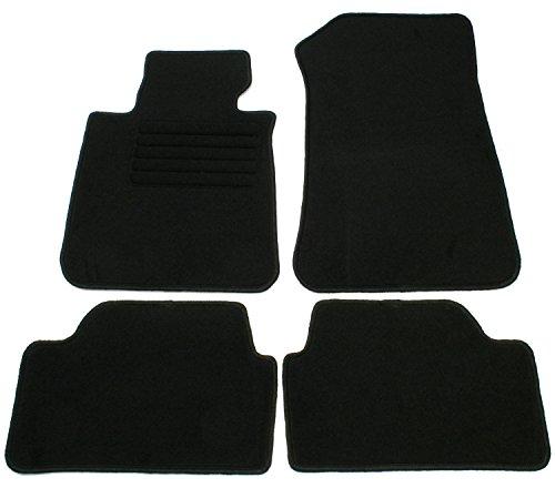 AD Tuning GmbH hg10228terciopelo ajuste Soporte Negro Auto Juego de alfombrillas para alfombras Alfombras Carpet Floor Mats