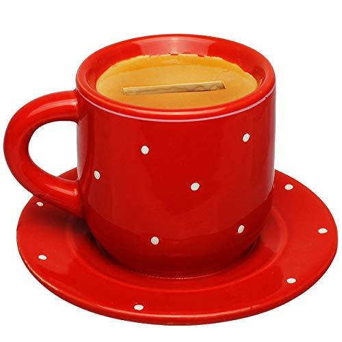 alles-meine.de GmbH Spardose - Kaffeetasse / Teetasse - stabile Sparbüchse - aus Porzellan / Keramik - mit Verschluss - Sparschwein - für Kinder & Erwachsene / lustig witzig - Ki..