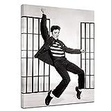 Wandbild Elvis Presley I - 50x70cm hochkant - Leinwandbild Kunstdruck Bild auf Leinwand Foto - Berühmtheiten & Zeitgeschichte