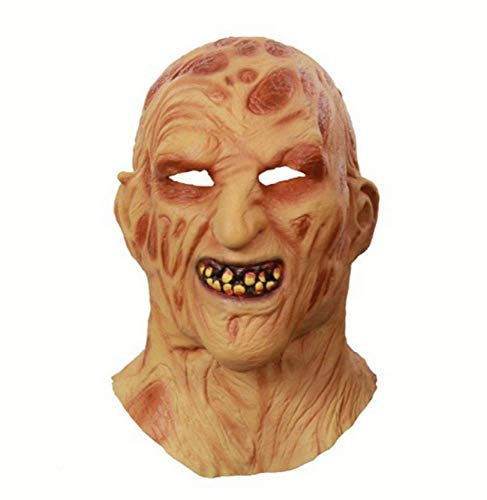 JIAENY Halloween-Maske,Halloween Maske Masken Cosplay Freddy Krueger Party Masken Adult Scary Horror Kostüm Kostüm Scary Mask Halloween - Best Adult Kostüm Männer