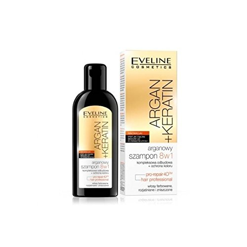 Eveline Argan Oil Keratin Liquid Silk Shampoo 8 in 1-150ml
