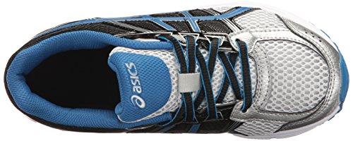 Asics Gel-Contend 4 GS Breit Synthetik Laufschuh Silver/Classic Blue/Black