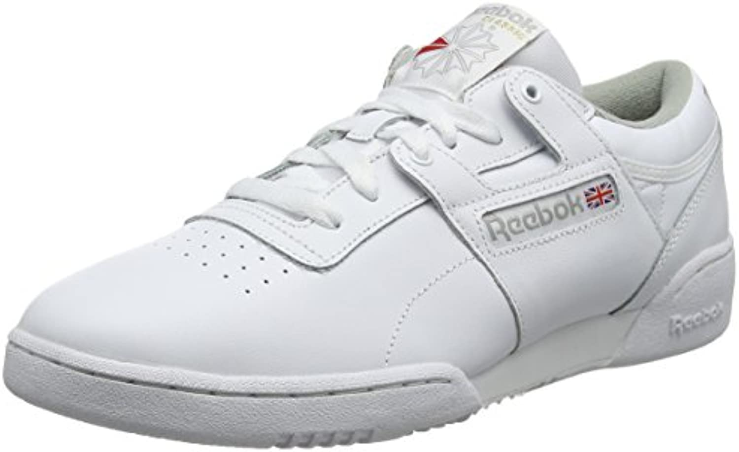 Reebok Workout Low, Zapatillas para Hombre, Blanco (Intense-White/Grey 0), 40 EU