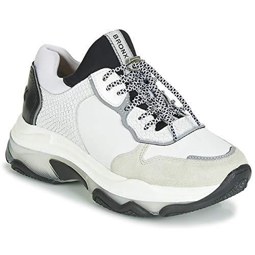 Bronx BAISLEY Sneaker Damen Grau/Weiss/Schwarz - 40 - Sneaker Low