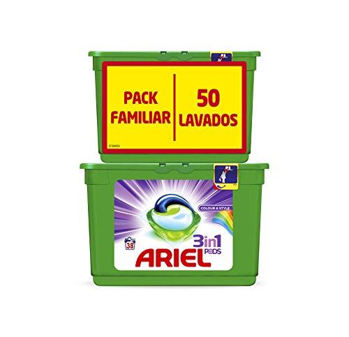 Ariel 3 en 1 Pods Color y Estilo Cápsulas de Detergente   50 Lavados