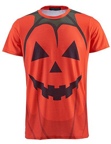 Funny World Herren Kürbis Halloween T-Shirt (M, Kürbis)
