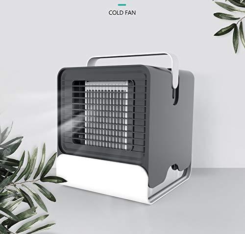 XXL Mini Tragbarer Luftkühler,Verdampfung des großen Luftvolumens, USB-Aufladung, DREI Verwendungszustände, gesunde Negative Ionen, Wassertank 150ML,Black