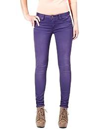 7a96a5f7ee4f ZARA Basic Women s Super Slim Fit Jean Purple (2)