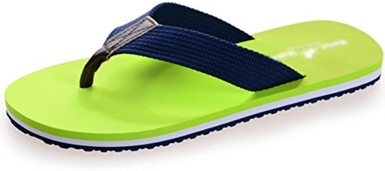 Chanclas para Hombres Moda Ocio Zapatillas De Playa Sandalias En Forma De Y Sandalias Antideslizantes Transpirable...
