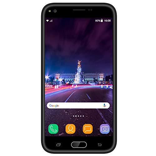 Smartphone Pas Cher 4G VMOBILE J5 Téléphone Portable Débloqué (5.5' HD IPS 3Go RAM et 32Go ROM) Android 7.0 Téléphone Portable Pas Cher sans Forfait Dual SIM/WiFi/GPS (Noir)