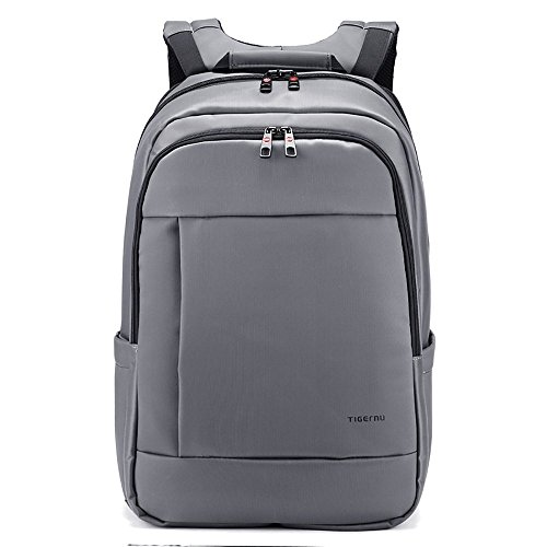 "Slotra Zaino della Spalla per PC Portatili da 17"", Unique Laptop Backpack Zaino Scuola Resistente all'acqua Anti-Theft Argento"