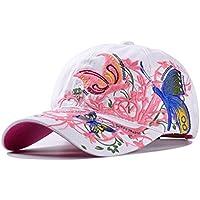 WeiMay Mujeres gorra de béisbol bordada al aire libre Deportes Sun Hat 100% algodón