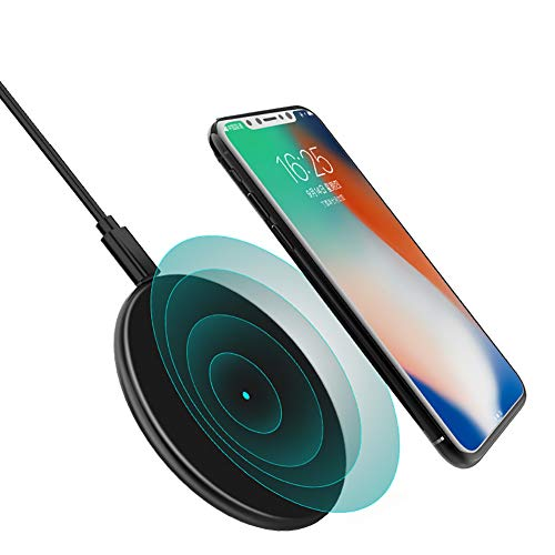 ZUZU Boost Up Wireless Charging Pad 7.5W - Drahtloses Ladegerät für iPhone XS, XS Max, XR, X, 8, 8 Plus, kompatibel mit Samsung, LG, Sony und mehr,Black - Handy Boost Lg
