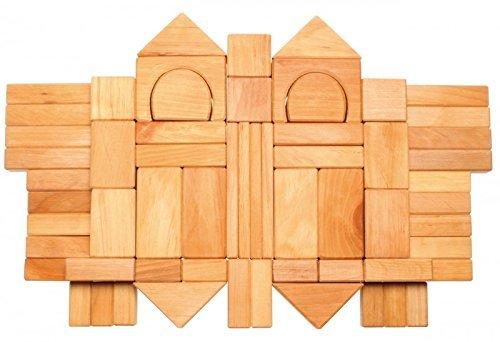 Grimms Spiel Und Holz Design Grimms 30 Geo-Klötze natur