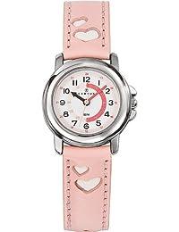 Certus 647450 - Reloj aprendizaje de cuarzo infantil con correa de piel, color rosa