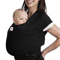 db58be8721 Lictin Fascia Porta Bambino - Fascia Porta Bebè,Baby Wrap,Marsupio Fascia  Neonato per Neonati e Bambini Fino a 16 kg,Morbido e Confortevole,Nero