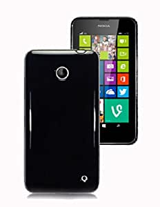 BLACK SOLID PLAIN GLOSS GEL CASE FOR NOKIA LUMIA 630