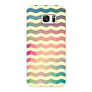 Delighted Seamless ZigZag Multicolor Back Case Cover for Galaxy S7 Edge
