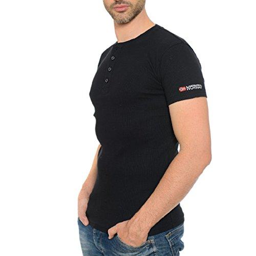 Geographical Norway Herren Ripp T-Shirt JASLO MEN Black