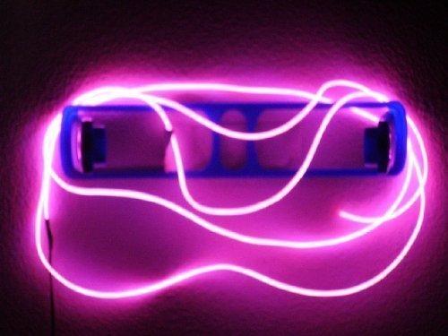 .4FT Leuchtschnur EL Kabel Neon Glühend Draht Lichtleiste Streifen, Elektrolumineszenz Licht Mit Batterie Trafo, mit 3 Modus für Weihnachten, Halloween Party, Kostüm Konzert Rave,Nachtclubs Dekoration (Rosa) (Kostüm D'halloween)