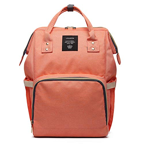 Calistous Rucksack, Mumienschlafsack, Schwangerschaft, Windel, Wickeltasche, große Kapazität, Baby Reisetasche Orange