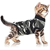 Suitical Recovery Suit, Katzen-Anzug zur Rehabilitation, Größe XXS, Schwarz-Camouflage