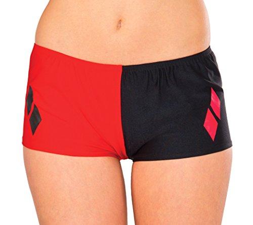Rubie's Women's DC Comics Harley Quinn Boy Shorts, Multi, One Size