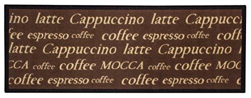 andiamo Küchenläufer Cappuccino Cups Coffee Espresso Latte Mocca  - Polyamid - 67 x 180 cm, braun (Teppich Espresso-küche,)