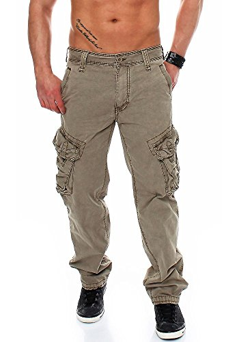 Jet Lag Herren Cargo Hose Take off 3 long (16) vintage khaki 33/32