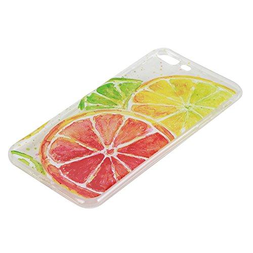 Pour Apple iphone 7 plus Plus (5,5 Pouces) Coque ZeWoo® Étui en Silicone TPU Housse Protecteur - HX014 / Flamants Roses HX016 / Des Citron Coloré