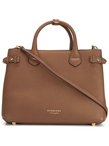 Burberry-Womens-402369521600-Brown-Leather-Handbag