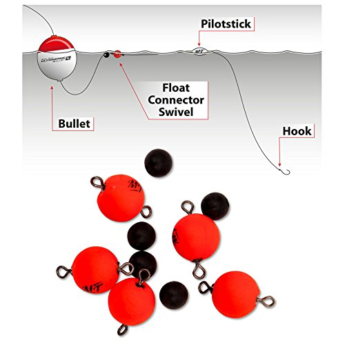 Quantum Magic Trout Float Connector Swivel 10 rot 5Stück Ø10mm